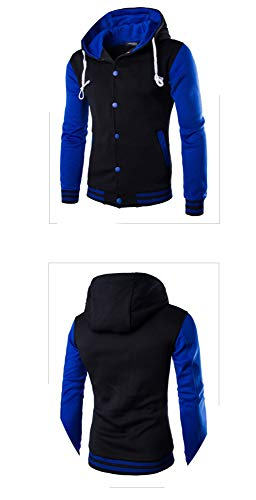 Da Blu Coat A Baseball Giacca Con Cappuccio Otto Colori Maglia Uomo 5qq7wB1v