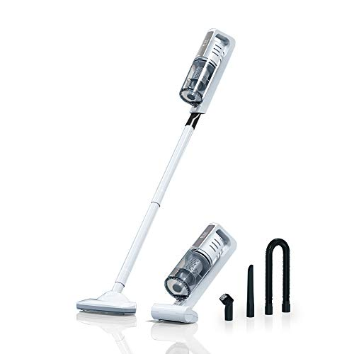 Tamong Cordless Stick Vacuum Cleaner, Car Vacuum Cleaner,Powerful Cleaning Lightweight 2 in 1 Handheld Vacuum with Rechargeable Lithium Ion Battery and LED Brush