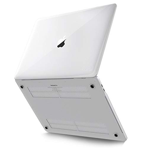 Kuzy - MacBook Pro 16 inch Case 2019 Release A2141 Plastic Hard Shell for New 16 inch MacBook Pro Case with Touch Bar Soft Touch - Clear