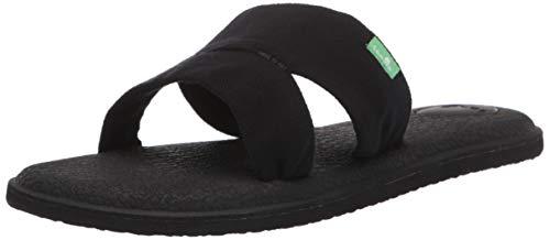 (Sanuk Women's Yoga Mat Capri Sandal Black 09 M US)