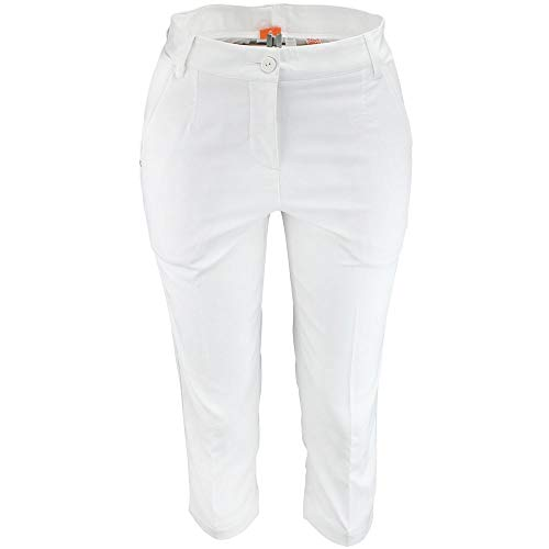 PUMA Womens Solid Tech Capri Us Golf Casual Pants & Shorts, White, 4
