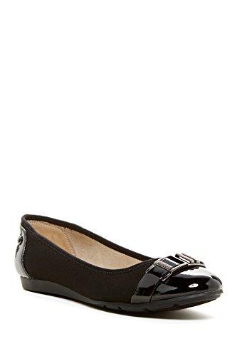 Anne Klein Womens Abandoned Cap Toe Mules, Black, Size 7.0
