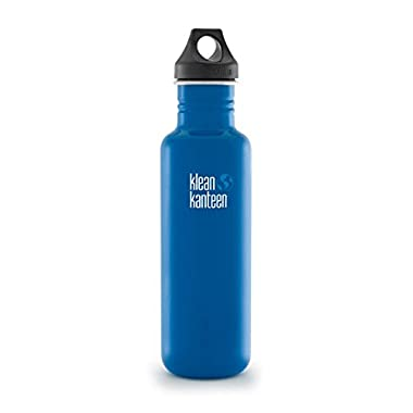 Klean Kanteen Classic Water Bottle with Loop Cap, 27-Ounce, Blue Planet
