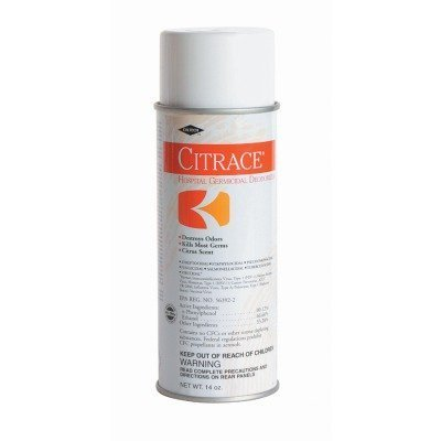 Citrace Citrace Aerosol Germicidal Disinfectants (DEODORIZER, GERMICIDAL, CITRACE, 12X14 OZ)