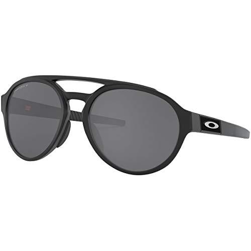 Oakley Men's OO9421 Forager Round Sunglasses, Matte Black/Prizm Black Polarized, 58 mm (Oakley Brillen Günstig)