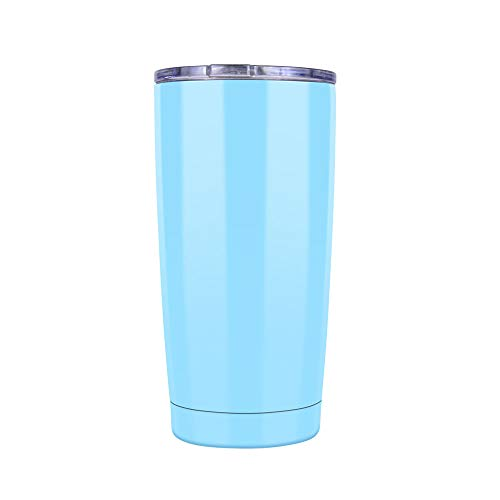 20 oz Double Wall Vacuum Insulated Coffee Cup - 18/8 Stainless Steel Travel Mug for Cold & Hot Drinks (sky blue)