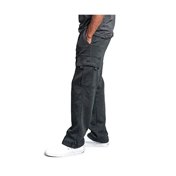 Youngii_®Pantalon Jogging Sport Hommes en 65% Coton avec Grandes Poches Latérales Grande Taille Pantalon Travail de…
