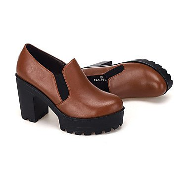 Women'S amp;Amp; 5In Heels Chunky Spring Black Coffee CN39 Career Over EU39 Shoes Cn39 US8 Office Eu39 Heel UK6 Zormey Coffee Us8 Leather Fall Formal amp;Amp; Uk6 dq6CdwZ