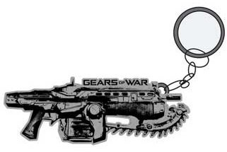 Gears of War Metal Keychain