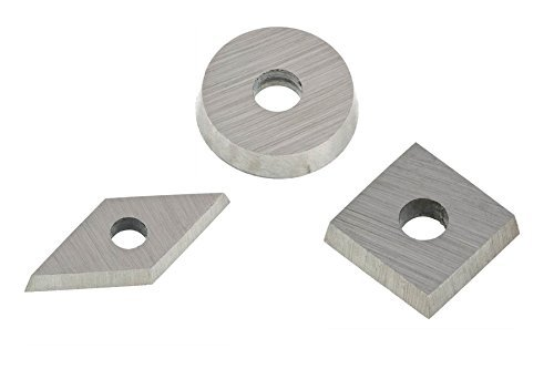 Robert Sorby RSTM-TIP123 Turnmaster Pack of 3 High Speed Steel HSS Cutters: Square, Round and Diamond