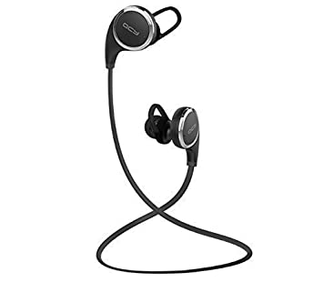 QCY QY8 Mini Bluetooth 4.1 Headphones with Microphone for iPhone, iPad, Samsung and Android Smartphone - Black