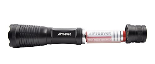 Prosvet E6 1200 Lumen Cree-XML T6 led Portable Zoomable Flashlight -5 Mode Adjustable Focus - Water Resistant --Free Candle lantern dome Accessory Included
