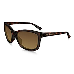 Oakley Women's Drop-In Polarized Rectangular Sunglasses, Tortoise, 58 mm