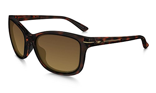 Oakley Women's Drop-In Polarized Rectangular Sunglasses, Tortoise, 58 mm by Oakley