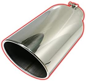 """MBRP T5074 Dual Wall T304 Stainless Steel Exhaust Tip 5/"""" ID x 6/"""" Outlet 12/"""" Long"""