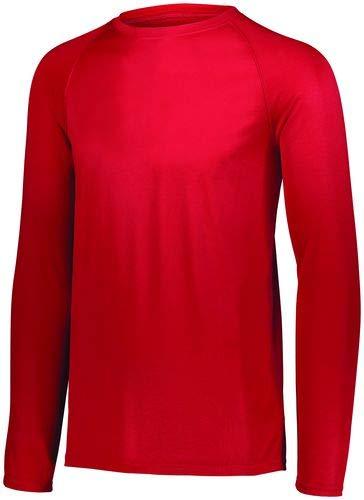 - Augusta Sportswear Attain Wicking Long Sleeve Shirt M Red
