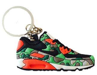 Nike Black Green Atmos Duck Camo Air Max 90 2D Flat Sneaker Keychain