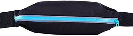 Teamoy Running cinturón, cintura – Bolsa de aspiradora para auriculares, teléfono móvil, dinero y más, azul celeste: Amazon.es: Deportes y aire libre