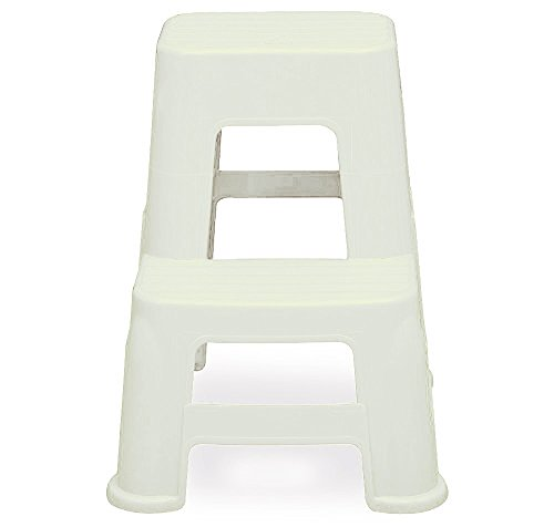 Home Utility Ladder Stool - White