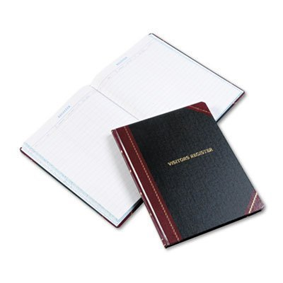 Visitors Register Book, 24 Lines/Page, 150 Pages, Black by Boorum & Pease