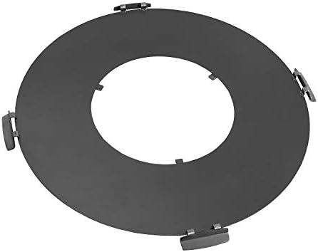 BlackOrange Plancha Plancha en acier Ø 82 cm avec trou de feu / grille de cuisson Ø 40 cm et 4 poignées de maintien soudées stables pour brasero de 80 cm de diamètre