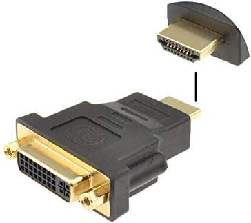DVI-D Dual Link 24+5 Adaptateur DVI /à HDMI Adapter HDMI M/âle /à DVI Femelle avec Cordon Plaqu/é Or Convertisseur 1080P Full HD Adaptor Hdmi /à P/éritel
