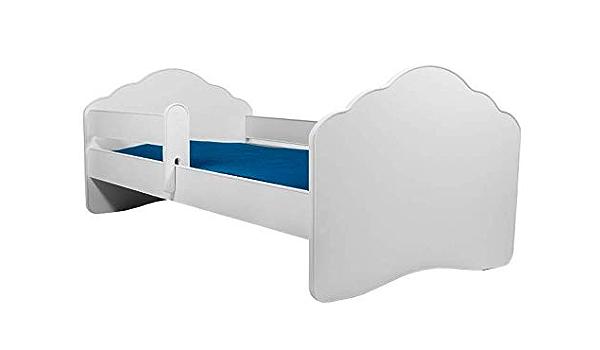 MEBLEKO Cama infantil de 140 x 70 cm con colchón y barrera ...