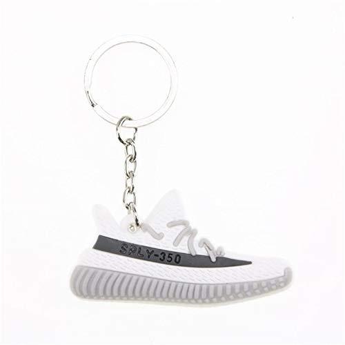 lotuwio Mini Silicone Boost Scarpe Portachiavi Fascino Donna Uomo Bambini Portachiavi Portachiavi Regalo Chic Sneaker Portachiavi A