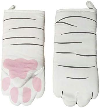 Guantes largos resistentes al calor para horno, guantes 3D de ...