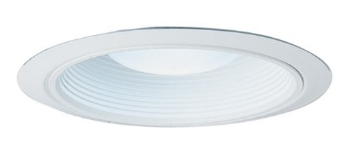 Juno Lighting 28W-WH 6-Inch Fully Enclosed Ultra-Trim White Baffle, White Trim by Juno Lighting (Fully Enclosed Trim)