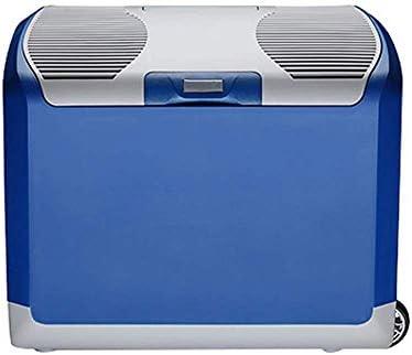 ZCHAN ミニポータブルコンパクトパーソナル冷蔵庫、冷たい&熱、容量、寒さフリー&エコフレンドリー、家庭用コンセント&車の充電器のためのプラグが含まれています (Color : Blue)