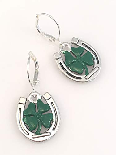 Four Leaf Clover and Horseshoe Earrings ()