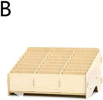 Sunnyushine Handy Box für 24,Multifunktionale Aufbewahrungsbox Aus Holz, Desktop Multi Cell Phone Rack | Handy Storage Management Box Mobile Speicher Racks | 12 Gitter / 24 Gitter / 36 Gitter