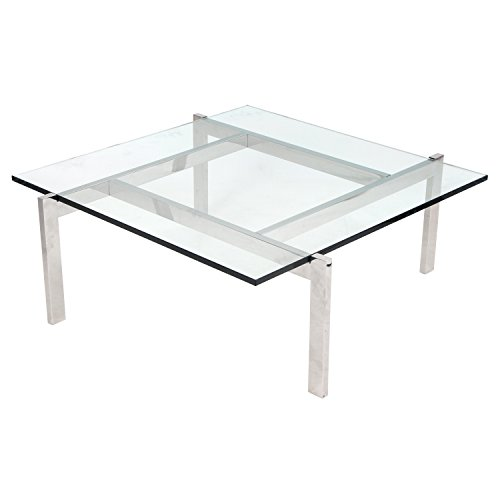 WOYBR TB-Cosmo Chrome, Glass Cosmopolitan Coffee Table ()