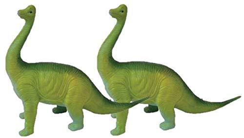 "M&E 2 Dinosaur Figures Guttzie Buddy 8"" Squishy Fidget Toy Stress Ball, Stocking Stuffer Party Favors (2 Brachiosaurus)"