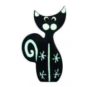 8 gatos negros de Piwi-madera