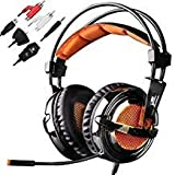 SADES SA928 Multi-platform 3.5mm Stereo Gaming Headset Over Ear Headphone w/ Microphone for PS4 PS3 Xbox One Xbox 360 PC