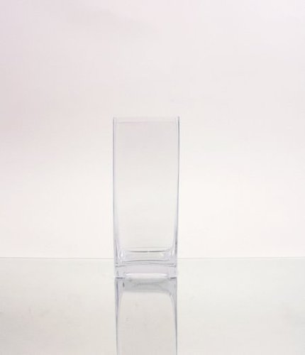 8 Vase Square (WGVI Clear Square BLock GLass Vase/Candle Holder - 3