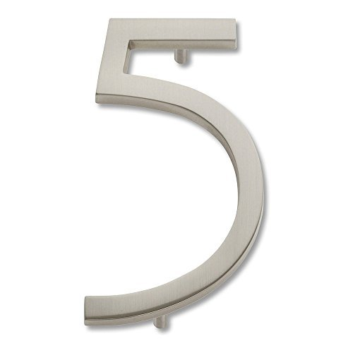 brushed nickel numbers - 9