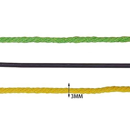 WopenJucy Cuerda Cordel de Algod/ón Hilo Macram/é 3 mm de di/ámetro para Envolver Regalo Navidad Colgar Fotos Manualidades Costura DIY Artesan/ía 100m Verde
