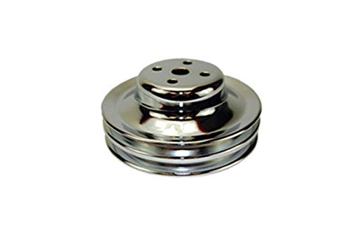 Pirate Mfg 1965-66 SB 289 Chrome Steel Double Groove Water Pump Pulley ()