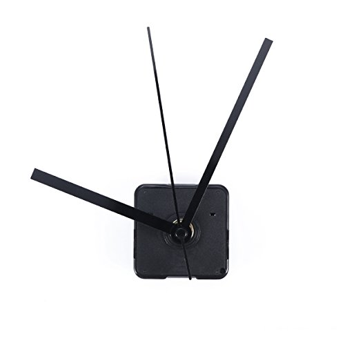 (VORCOOL Silent Clock Movement Non-ticking Movement Motor Mechanism (Black Straight Clock Spindle))