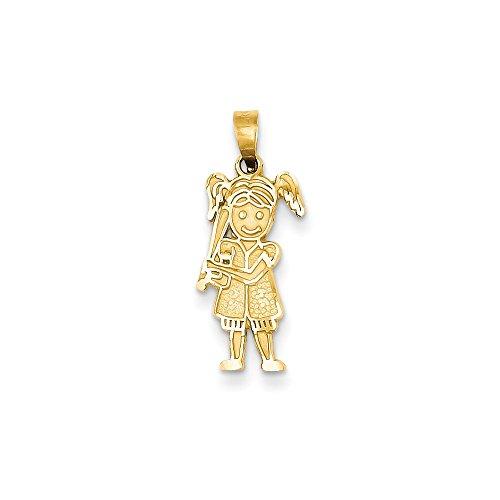 Jewelry Pendants & Charms Themed Charms 14k Girl Baseball Player -