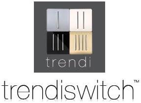 45 A Trendi Artistic Interruptor de luz t/áctil Color Plateado Brillante