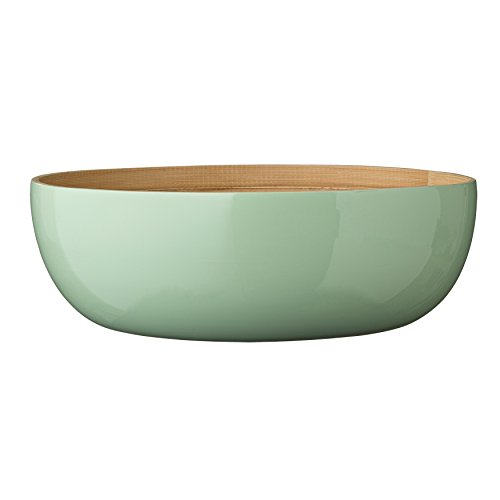 Bloomingville Round Mint Bamboo Olivia Salad Bowl, Multicolor