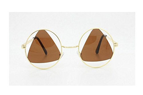 darkey-wang-mens-and-womens-fashion-triangle-retro-dark-brown-sunglasses
