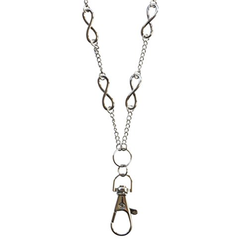 Hannah Women's Fashion Lanyard Silver Infinity Necklace with Swivel Clasp by Sweet Carolina K (Image #7)