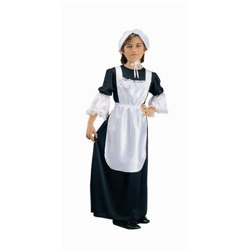 RG Costumes Pilgrim Girl Costume, Black/White, Small (Costumes With A Black Dress)
