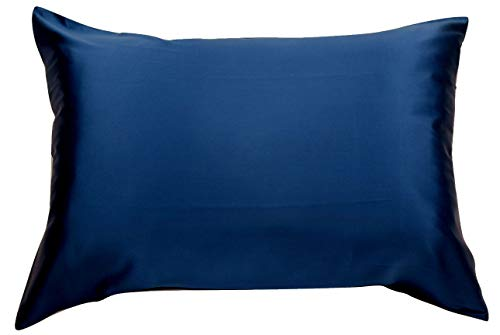 Celestial Silk 100% Silk Pillowcase for Hair Luxury 25 Momme Mulberry Silk, Charmeuse Silk on Both Sides -Gift Wrapped- (Standard, Navy Blue)