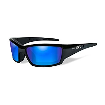 9a5298fd2c Image Unavailable. Image not available for. Color  Sunglasses WileyX  CLIMATE CONTROL WX TIDE CCTID09 POL BLUE MIRROR LENS MATTE BLA